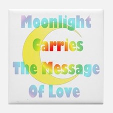 Moonlight Message Tile Coaster