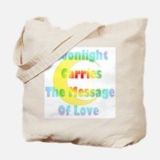 Moon Message Tote Bag