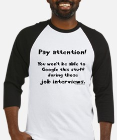 Pay attention funny teacher Baseball Jersey