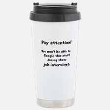 Pay attention funny teacher Stainless Steel Travel
