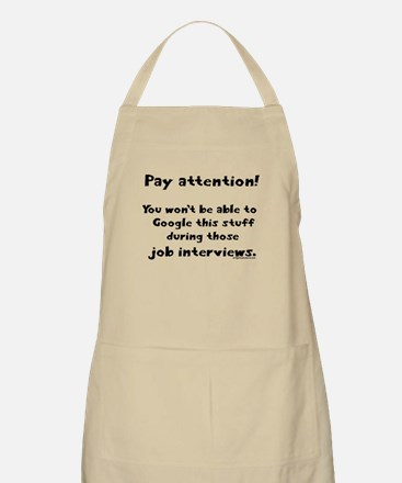 Pay attention funny teacher Apron