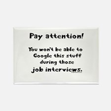 Pay attention funny teacher Rectangle Magnet (10 p