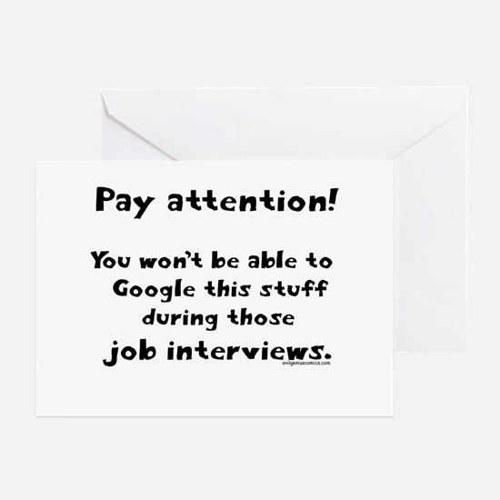Pay attention funny teacher Greeting Card