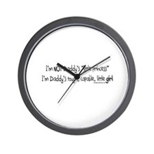 NOT Daddy's princess girl power Wall Clock