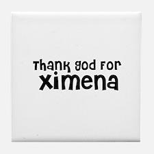 Thank God For Ximena Tile Coaster