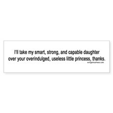 girl vs princess empowerment Bumper Sticker