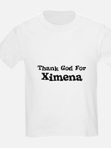Thank God For Ximena Kids T-Shirt