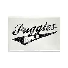 Puggles Rule Rectangle Magnet