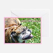 Happy Birthday Bulldog Greeting Card