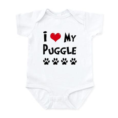 I Love My Puggle Infant Bodysuit