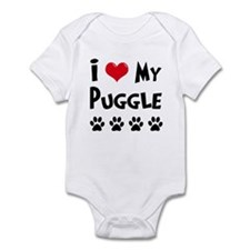 I Love My Puggle Infant Bodysuit