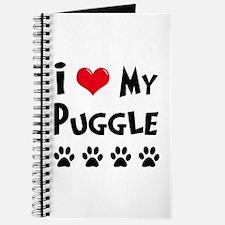 I Love My Puggle Journal