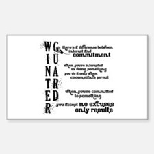 WINTER GUARD: Commitment Quot Decal