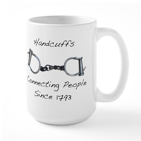 Handcuffs-Connecting People Large Mug