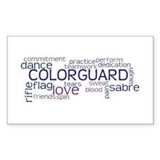 COLOR GUARD Words Decal