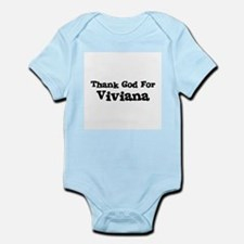 Thank God For Viviana Infant Creeper