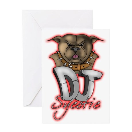 Dj Sycotic Greeting Card