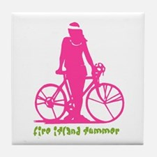 Fire Island Summer Tile Coaster