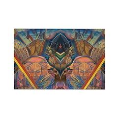African Masks Rectangle Magnet