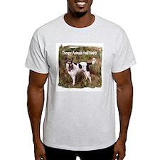 Therapy Animals Heal Hearts Ash Grey T-Shirt