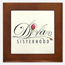 D.I.V.A. Sisterhood Framed Tile