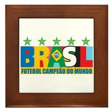 Brazilian World cup soccer Framed Tile