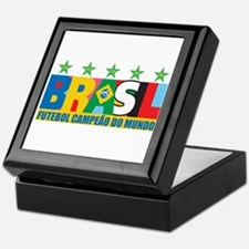 Brazilian World cup soccer Keepsake Box