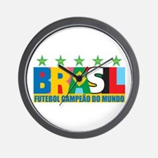 Brazilian World cup soccer Wall Clock
