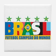 Brazilian World cup soccer Tile Coaster