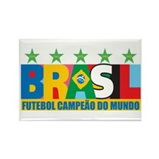 Brazilian World cup soccer Rectangle Magnet (10 pa