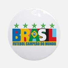 Brazilian World cup soccer Ornament (Round)