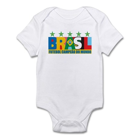 Brazilian World cup soccer Infant Bodysuit