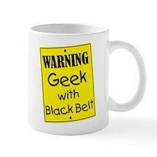 Warning Geek with Black Belt Mug