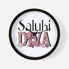 Saluki DIVA Wall Clock