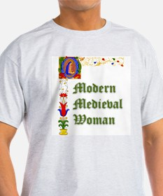 Modern Medieval Woman Ash Grey T-Shirt