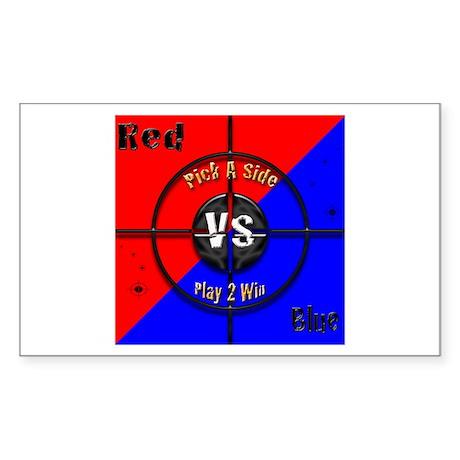 Red VS Blue Sticker (Rectangle)