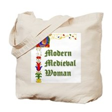 Modern Medieval Woman Tote Bag