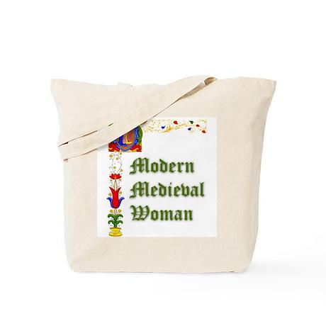 Modern Medieval Woman Tote Bag