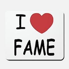 I heart fame Mousepad