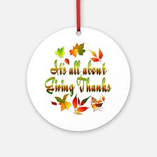 Thanksgiving Ornament (Round)