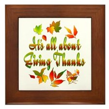 Thanksgiving Framed Tile
