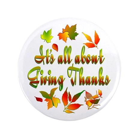 """Thanksgiving 3.5"""" Button (100 pack)"""