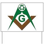 Recycling Masonically Yard Sign