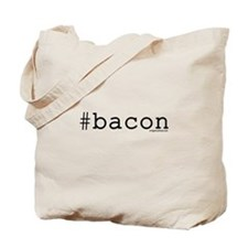 Twitter hashtag #bacon Tote Bag