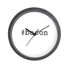 Twitter hashtag #bacon Wall Clock