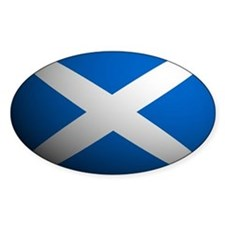 Scotland flag rounded Oval Decal