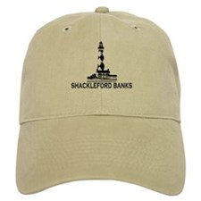 Shackleford Banks NC - Lighthouse Design Baseball Cap