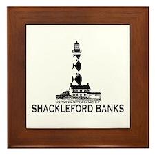 Shackleford Banks NC - Lighthouse Design Framed Ti