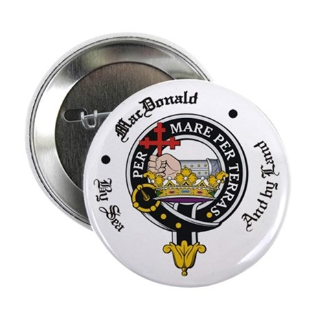 "MacDonald Clan Badge Crest 2.25"" Button (10 pack)"