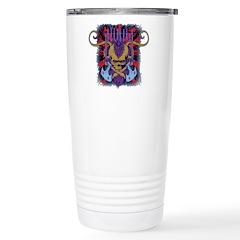 Savage Skull Mutant Style Travel Mug